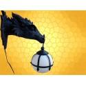 Lampe Tête Dragon Applique Murale Gothique Dragons Mobiler Fantasy