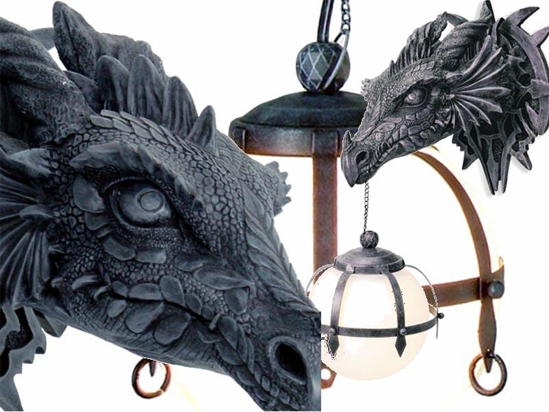 Lampe T 234 Te Dragon Applique Murale Gothique Dragons Mobiler