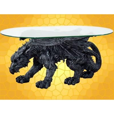 Table Basse Gothique Dragon la Bête qui Marche Tables Salon Dragons