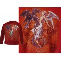Sweat Shirt Dark Chemical Wedding Alchemy Gothic Rouge Mariage du Dragon et de l'Ange