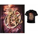 T Shirt  Curse Of Ishtar Alchemy Gothic Pentagramme et Créature Fantasy Malédiction