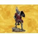 Chevalier Croisé Cotte de Mailles Tabard Rouge et Bouclier Figurine Guerrier Moyen Age