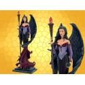 Statuette Fée Magicienne Gothique Fantasy Reine Mage Figurine Sexy