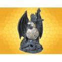 Statuette Dragons Figurine Dragon en Armure avec Épée et Bouclier