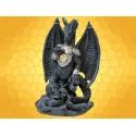 Statuette Dragons Figurine Dragon en Armure avec Crânes