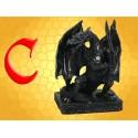 Statuette Résine Dragon Guerrier sur sa Base et Épée Figurine Fantasy Dragons