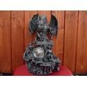 Statuette Lumineuse Dragon Princesse et Trésor Figurine et Boule Verre