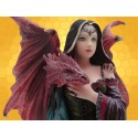 Figurine Demoiselle Gothique Les Ames Sœurs Jeune Dragon Rouge Dragonnet