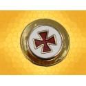 Pin's Croix Templière Émaillée Rouge sur Fond Blanc Pin Templier