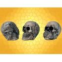 Lot des Trois Crânes de La Sagesse Rien Dit Vu Entendu Secret du Bonheur :    Lot des Trois Crânes de La Sagesse Rien Dit Vu Entendu Secret du BonheurDOD67001.   Ces trois petits crânes réalisés en...