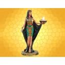 Bougeoir Égypte Antique Cléopâtre Couleur Porte Bougie Égyptien Antiquité Reine Peplum