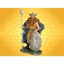 Figurine Guerrier Viking Guerrier Nordique Barbare Bouclier et Lance