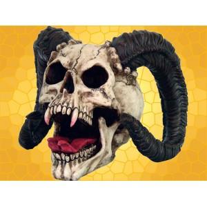Crâne Démon Cornu Squelette Crânes Gothique Diable Malfaisant