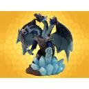 Dragon des Glaces Tricéphale Couleur Bleue Pailleté et Sabre Dragons Guerriers
