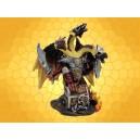 Dragon du Feu Tricéphale Couleur Rouge Pailleté et Sabre Dragons Guerriers