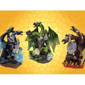 Lot des 3 Dragons Tricéphales Couleur Hydres Cuirassés Dragons Guerriers