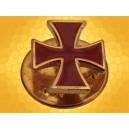 Pin Croix Templier Large Rouge Pins Chrétien Croisades