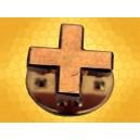 Pin's Croix Chrétienne Grecque Pins Chrétien Finition Or Vif