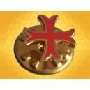 Pin Croix Templiers Rouge étroite Pins Chrétien Croisades