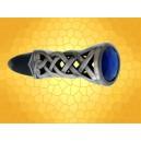 Poignard Motifs Celtes Dague Antique Celtique Fourreau et Gemme Bleue