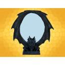 Miroir Dragon à Poser Ovale Décoration Gothique Fantasy Dragons Gris