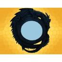 Miroir Rond Dragons Décoration Gothique Fantasy Dragon Gris