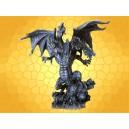 Dragon Hydre Cinq Têtes Statuette Menaçant Figurine Dragons Fantasy