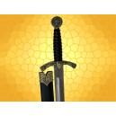 Dague Aigle et Cheval avec Fourreau Mini Épée Moyen Age Médiévale