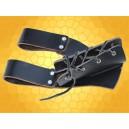 Porte-Épée Cuir Noir Grand Modèle Support Ceinture Dague Épée