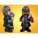 Figurine Vilain Chevalier Armure Bouclier et Épée Statuette Guerrier Moyen Age