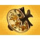 Pin Croix Templier étroit doré Pins Chrétien Croisades