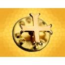 Pin's Croix Templière Patté fine et dorée Chrétienne Pin Templier Finition Or TEM288