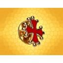 Pin's Occitan Doré émaillé rouge Moyen Age OCC1607