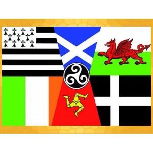 Drapeau Panceltique 150 x 90 cm Celte Régions celtiques Drapeaux Régionaux
