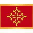 Drapeau Occitan Étoile Occitane jaune sur fond rouge Drapeaux Régionaux