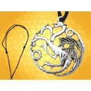 Collier 3 Dragons Symbole Targaryen Game Of Thrones Daenerys Westeros