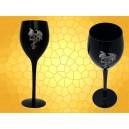 Verre à Vin Dragon sur Croix Celtique Calice Gothique Flûte Champagne Noire