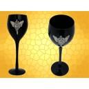 Verre à Vin Épée Crâne Serpents Ailes Calice Gothique Flûte Champagne Noire :    Verre à Vin Épée Crâne Serpents Ailes Calice Gothique Flûte Champagne Noire VER84.