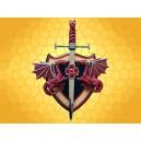 Poignard Dragon Rouge Support Dragons Arme Décoration Gothique