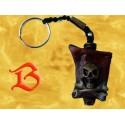 Porte Clés Pendentif Squelette Drapeau Pirate Porte-Clef Gothique Fantasy