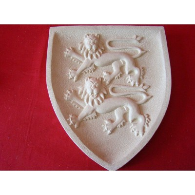 blason normandie lions plaque murale blasons moyen age historiques anticae. Black Bedroom Furniture Sets. Home Design Ideas