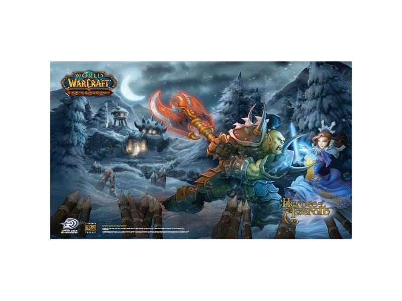 Tapis de jeu world of warcraft heroes of azeroth pour jeux de cartes wow magic lord of the rings Tapis de jeux de carte